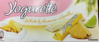 Yogurette White mit Ananas-Limette.