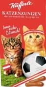 Schon zur Auslosung hatte Küfferle seine Fußball-Edition der Katzenzungen vorgestellt: Sind die nicht niedlich!?