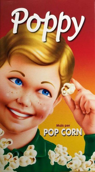 Poppy Popcorn zum Selbstaufpoppen aus Italien in hübscher Retroverpackung (Italien).
