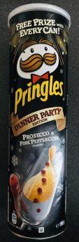Pringles Dinner Party Prosecco und rosa Pfeffer