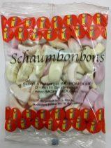 Eine der seltsamsten Süßigkeiten, die mir je begegnet sind: Schaumbonbons in einer sehr schlichten Tüte, aber dafür in Form von kleinen Putten in verschiedenen Farben.