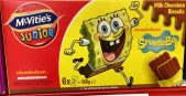 McVities Junior Schokoladenkekse Spongebob