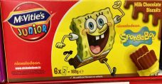 McVities Junior Schokoladenkekse Spongebob