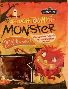 Die gibt es vermutlich auch in Deutschland, gefunden habe ich sie aber in Bad Ischl: Fruchtgummi-Monster von Hitschler mit 20% Fruchtsaft.