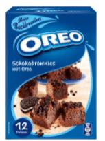 Schoko-Brownies mit Oreo-Bestandteilen. (Leider habe ich kein größeres Bild davon, sorry).