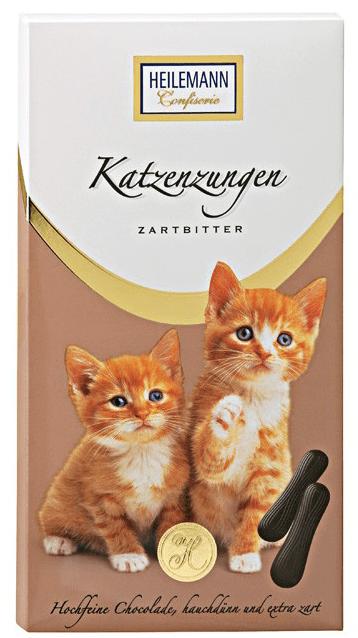 Katzenzungen von Heilemann Zartbitter.