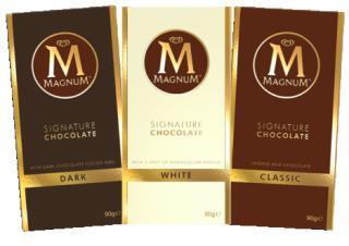 Bei Magnum war es anders herum: Erst war das Eis, dann die Schokolade.