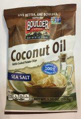 Das sind mal originelle Chipssorten: Coconut Oil von Boulder (USA).