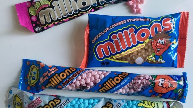 Golden Cusket Group Millions Sweets Bonbons England