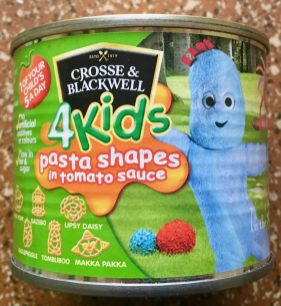 Crosse+Blackwell 4Kids pasta shapes in tomato sauce