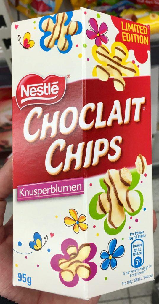Nestle Choclait Chips Knusperblumen