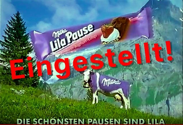 """Schock: Milka ersetzt """"Lila Pause"""" durch 0815-Riegel / Nussini weniger nussig"""