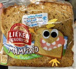 Schöne Gestaltung: Ein Produkt für eine bestimmte Zielgruppe konzipieren, in diesem Fall das Brot Mamfred für Kinder.