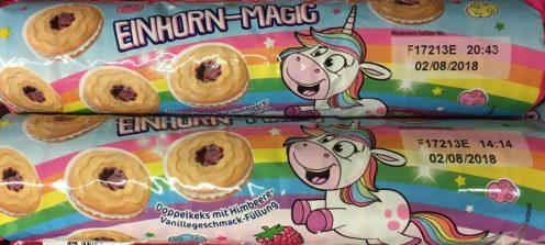 Einhorn Magic Doppelkeks mit Himbeer-Vanillegeschmack-Füllung von Continental Bakeries