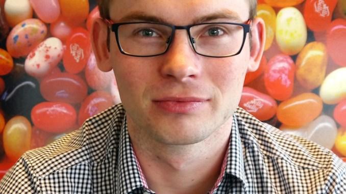 Jelly Belly Beans Deutschland-Mitarbeiter Frederik Luzki von Starkfried
