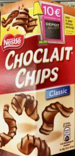 Das sind die regulären Choclat Chips mit Vollmilch-Schokoladenüberzug.