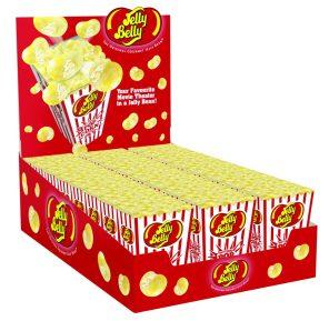 Ein ganzer Karton der leckeren Popcorn-Jelly Belly Beans.