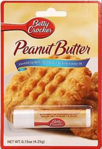 Kuchenbackmischung von Betty Crocker mit Peaut Butter - auch als Lippenstift erhältlich.