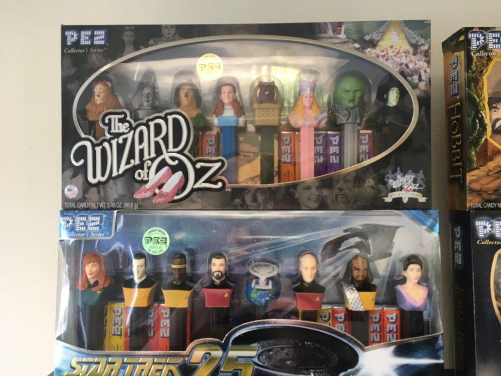 PEZ Edition Box Wizard of Oz und Star Trek