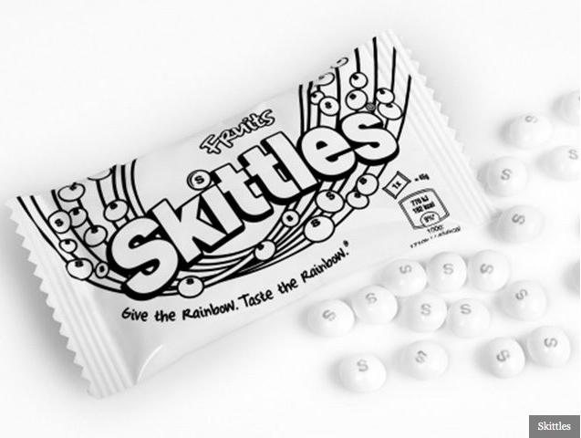 Skittles black & White