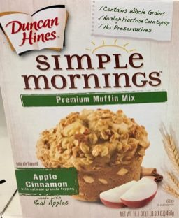 """Muffin Mix von Duncan Hines """"Simple Morning"""