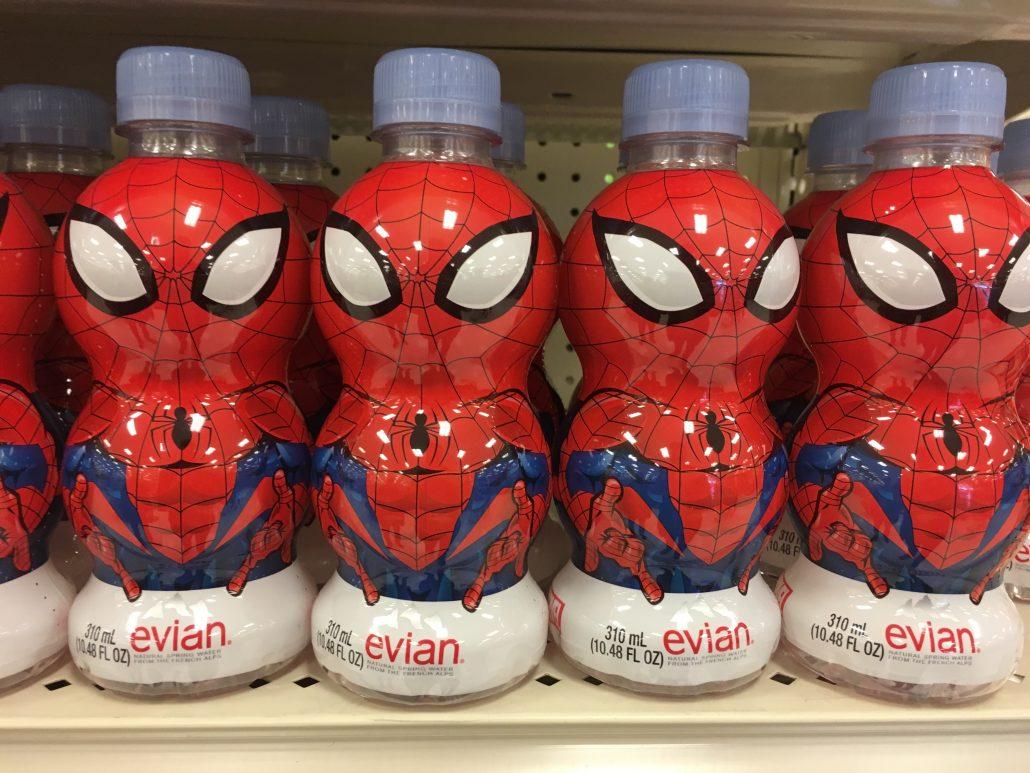 Evian Spiderman