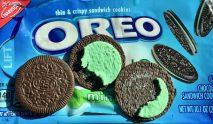 Oreo Mint ausgepackt und aufgeklappt