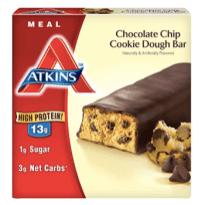 Atkins Chocolate Chip Cookie Dough Bar