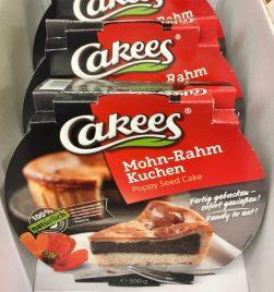 Cakees -Fertigkuchen Mohn-Rahm