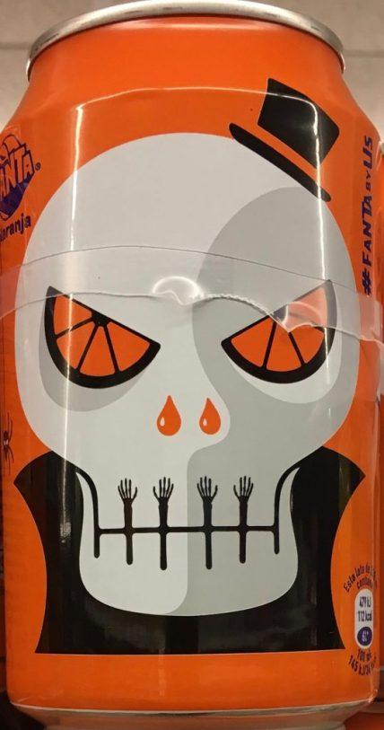 Fanta Dose Halloween Totenkopf