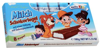 Gunz Milch Schokoriegel Hello Kids