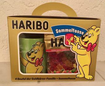 Haribo: Gummibärchen mit Sammeltasse im praktischen Set.