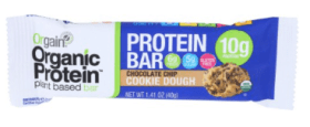 Orgain Organic Protein Bar Chocolate Chip Cookie Doug
