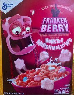 General Mills Frankenberry Cornflakes Monster Marshmallows Halloween