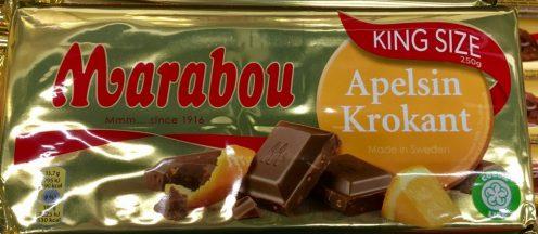 Marabou Schokolade Apfelsine-Krokant
