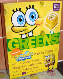 Spongebob Greens Vanilla Cake Kit Backmischung