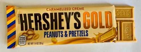 Hershey's Gold Peanuts+Pretzels Riegel Caramelized Creme 39G