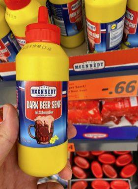 Lidl Mcennedy Dark Beer Senf