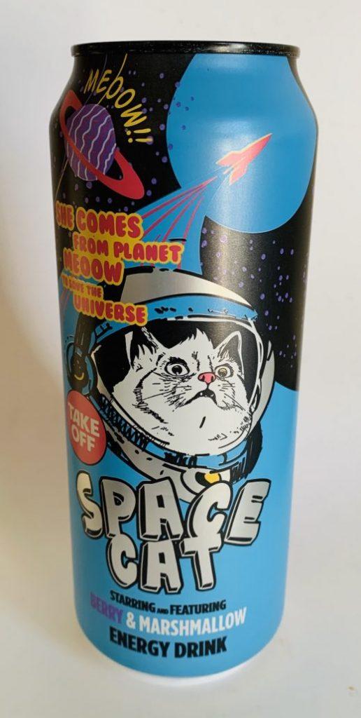 Space Cat Meoow Energydrink mit Beeren und Marshmallow-Geschmack Katzenmotiv Getränkedose