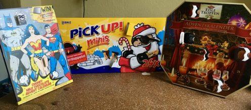 Adventskalender von Pick up! Edle Tropfen und DC Comics bbb bonbon buddies