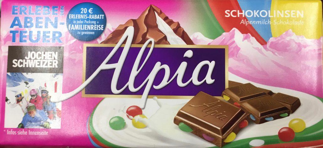 Alpia Schokolinsen Tafelschokolade