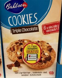 Bahlsen Cookie Triple Chocolate Werbung
