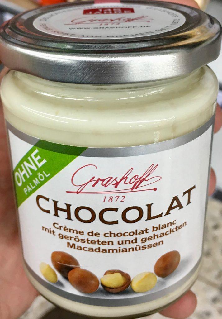 Grashoff Chocolat Weiße Schokolade mit Macadamiannüssen