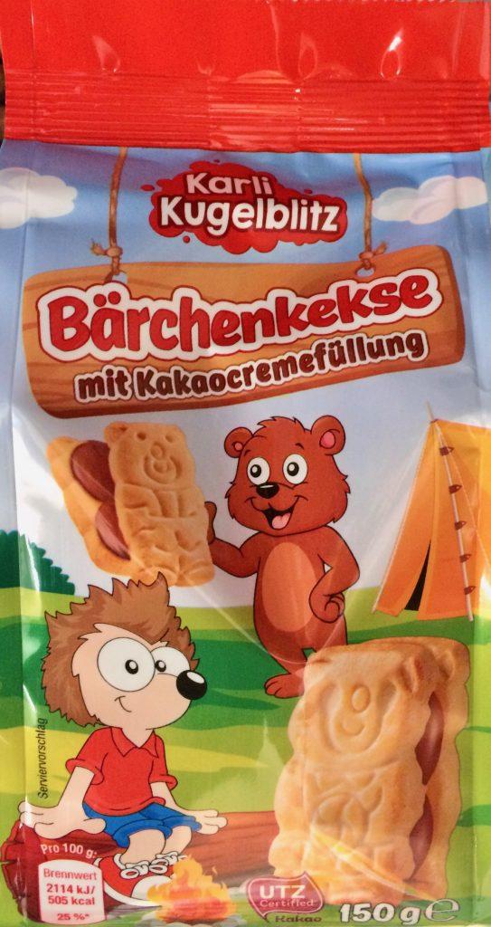 Karl Kugelblitz Bärchenkekse mit Kakaocremefüllung