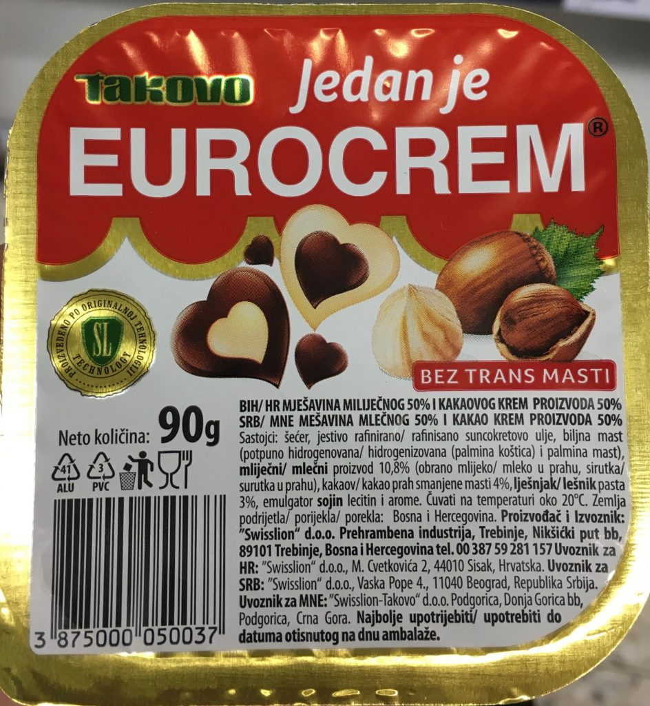 Takovo Eurocrem Brotaufstrich