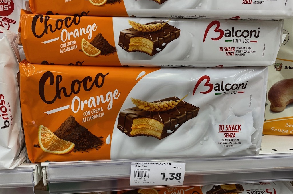 Balconi Italia 1953 Choco Orange Con Crema AllArancia Brioss 10er