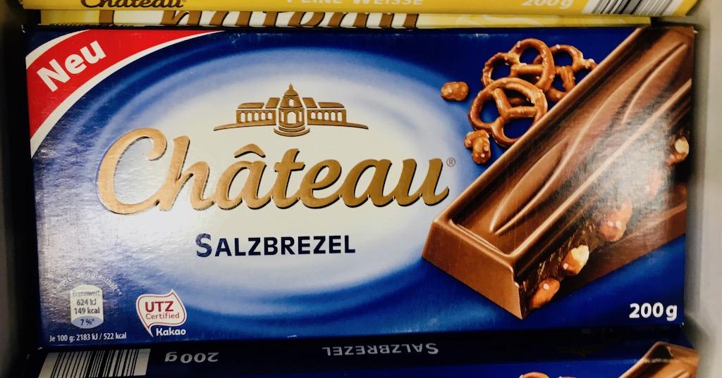 Aldi Chateau Salzbrezel Schokolade 200 Gramm