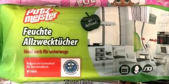 Aldi Putzmeister Feuchte Allzwecktücher mit Apfelduft 80 Stück
