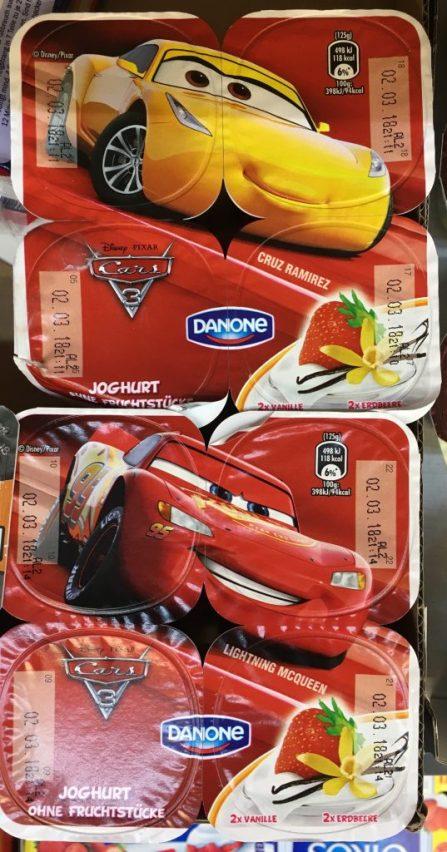 Danone Joghurt Cars