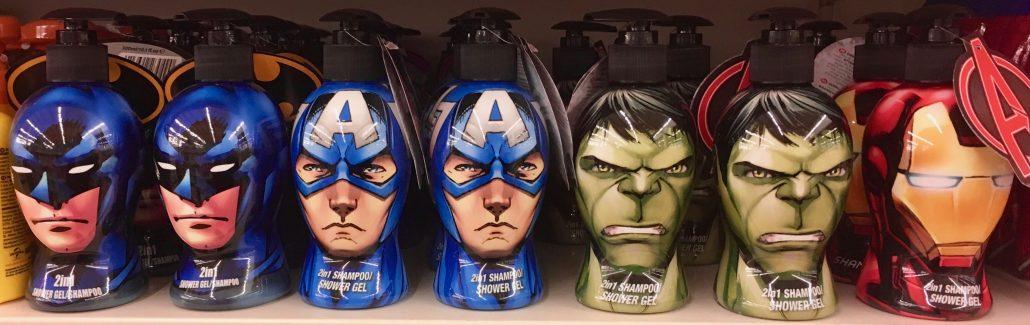 Handseife DC Comics Büsten Superman Batman Hulk